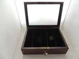 BOX ESPOSITORE PER OROLOGI E/O GIOIELLI SERRATURA 10 POSTI COME NUOVO - Gioielli & Orologeria