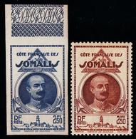 COTE FRANCAISE DES SOMALIS - N° 186 - 2F50 LEONCE LAGARDE - ESSAI BLEU NON DENTELE - BORD DE FEUILLE - LUXE. - Côte Française Des Somalis (1894-1967)