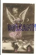 Bonne Année. Ange Et Cadeaux Au Dessus D'une Ville Et D'une église Sous La Neige. REX 4529. 1914 - Anges