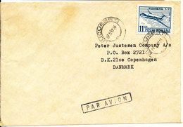 Romania Cover Sent Air Mail To Denmark Bucuresti 7-5-1987 Single Franked ROMBAC 1-11 - 1948-.... Republics