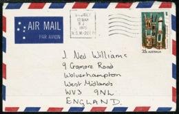 Ref 1236 - 1975 - Australia Cover 35c Airmail Rate To Wolverhampton - 1966-79 Elizabeth II
