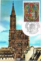30283. Tarjeta Maxima STRASBOURG (France) 2008. Bas Rhin Cathedrale - Cartas Máxima
