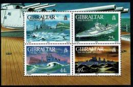 Ref 1236 - Gibraltar 1994 Miniature Sheet SG MS724 - Warships Maritime Theme Cat £10+ - Gibraltar