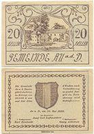 Au An Der Donau Bei Perg, 1 Schein Notgeld 1920, Wappen, Österreich 20 Heller - Oesterreich
