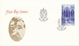 Norway FDC King Olav V 25th Years Anniversary As King Of Norway 2-9-1982 - FDC