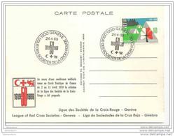 """89 - 79  - Carte Suisse Avec Oblit Spéciale """"Ligue Des Sociétés De La Croix-Rouge 1969 Genève - Croix-Rouge"""