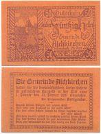 Aichkirchen Bei Wels, 1 Schein Notgeld 1920, Kirche, Österreich 50 Heller - Oesterreich