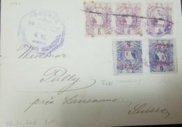O) 1894 GUATEMALA, NATIONAL EMBLEM, SCT 47 6c Lilac, NATIONAL EMBLEM OVERPRINT SURCHARGED  1893 1c INVERT IN RED - NATIO - Guatemala