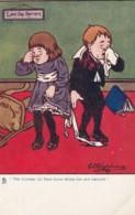 "Shepheard Artist Signed Image 'The Course Of True Love. .  ."" Children Romance Theme, C1900s Vintage Postcard - Shepheard"