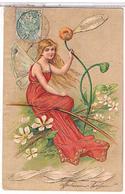 FEMME EFEUILLAGE  PASSIONNEMENT    1905    TBE     1U498 - Donne