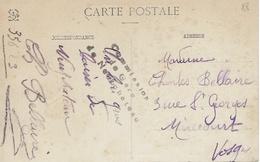 COMMISION DE GARE DE NEUFCHÂTEAU - CP Neufchâteau-Frébécourt - Château De Bourlémont - Marcophilie (Lettres)