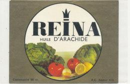 H 29 - ETIQUETTE  HUILE D'ARACHIDE   REINA - Labels