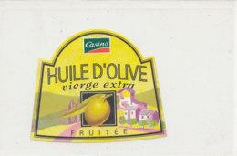 H 40 - ETIQUETTE  HUILE  D'OLIVE CASINO - Labels