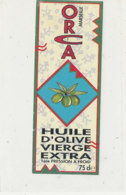 H 41 - ETIQUETTE  HUILE  D'OLIVE ORCA MARSEILLE - Labels