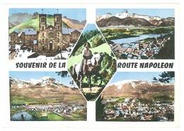 Cpsm Souvenir De La Route Napoléon ( ND De La Salette, Corps, Gap, St Bonnet En Champsaur ) - Andere Gemeenten