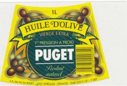 H 46 - ETIQUETTE  HUILE  D'OLIVE BUGET   VITROLLES - Labels