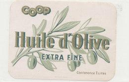 H 51 - ETIQUETTE  HUILE  D'OLIVE  COOP - Labels