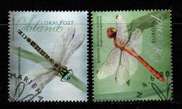 Aland, Yv 360-61 Jaar 2012, Reeks, Libellen,  Gestempeld, Zie Scan - Aland