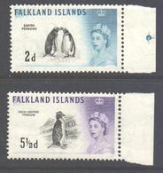 Falkland Islands Scott 129/137 - SG193/202, 1960 Birds 1/2d - 1/- MNH** - Falkland