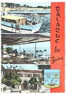 Cpsm Balaruc Les Bains - Multivues, Camping Touring Club De France, La Guinguette, Pavillon Sévigné - France