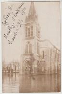 CPA PHOTO 93 Eglise De NEUILLY PLAISANCE - Inondations - Le Matin Du 19 Février 1910 - Neuilly Plaisance