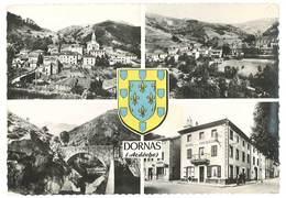 Cpsm Dornas - Ardèche ( Multivues ) - France