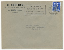 Enveloppe En-tête - U. BRETHES Mécanique Générale LA CHATRE (Indre) - OMEC La Chatre, Pays De G.Sand 1958 - Advertising