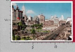 CARTOLINA VG BRASILE - SAO PAULO - Vista Parcial - 9 X 14 - ANN. 1953 ATM MECCANICA ROSSA - São Paulo