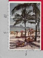 CARTOLINA VG BRASILE - RIO DE JANEIRO - Copacabana Posto 6 - 9 X 14 - ANN. 1954 ATM MECCANICA ROSSA - Rio De Janeiro