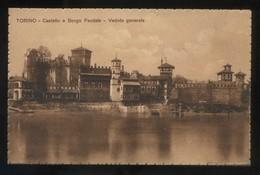 Torino. *Castello E Borgo. Veduta Generale* Nueva. - Lugares Y Plazas