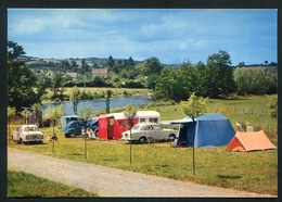 Toulon Sur Arroux - Camping Au Bord De L'arroux - Autos Voitures. Citroen 2CV .  Pegeot - France