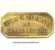 Carcassonne(11) Bienfaisance. Elie 15.3C  2Kg Pain Lt,Rect,c 20x42 Mm. - Monetary / Of Necessity