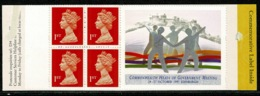 Ref 1237 - GB 1997 Stamp Booklet - SG HB15 - Heads Of Government - Carné