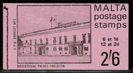 Ref 1237 - Malta 1970 2/6 Stamp Booklet - SB2 - Malta