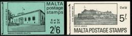 Ref 1237 - Malta 1971 - 2 X Stamp Booklets - 2/6 SB3 & 5/= SB4 - Malta