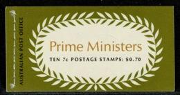 Ref 1237 - Australia 1972 Stamp Booklet - Prime Ministers SB50 - Carné