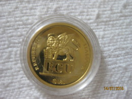 Italie: Jeton / Token ECU Galileo (or / Gold 14K 3.05 Gr) - Sin Clasificación