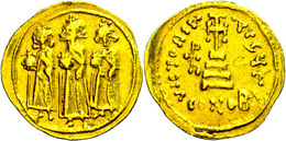 Heraclius, 610-641, Solidus (4,48g), Konstantinopel. Av: Heraclius Zwischen Heraclius Constantin Und Heraclonas Von Vorn - Byzantines
