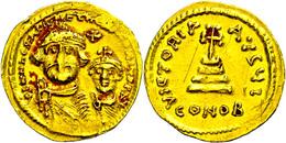 Solidus, Heraclius, 610-641, Solidus (4,48g), Konstantinopel. Av: Die Büsten Von Heraclius Und Heraclius Constantin Von  - Byzantines