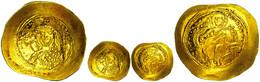 Constantinus IX., 1042-1055, Gold Histamenon Nomisma (4,39g), Konstantinopel. Av: Thronender Christus Von Vorn, Darum Um - Byzantines