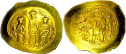 Romanus IV. Diogenes, 1068-1071, Gold Histamenon Nomisma (4,40g), Konstantinopel. Av: Christus, Romanus Und Eudocia Steh - Byzantines