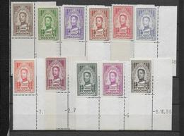 INDOCHINE - 1936 - YVERT 182/192 ** MNH BORD DE FEUILLE COIN DATE - COTE = 44 EUR. - Indochina (1889-1945)