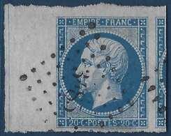 1853- 1860 Napoléon III N°14c Type I Bleu Avec Ligne D'encadrement Oblitéré PC 3483 De Vals LUXE Signé Calves - 1853-1860 Napoleon III