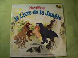 33 TOURS BO LE LIVRE DE LA JUNGLE. 1968. DISQUE LIVRE DISNEYLAND / LE PETIT MENESTREL AIE CONFIANCE / MARCHE DES ELEPHA - Enfants