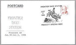 FRONTIER DAYS STATION - RODEO. Toro - Bull. Prescott AZ 1998 - Fiestas