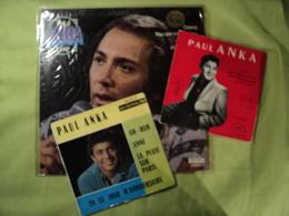 PAUL ANKA. UN 33 TOURS ET UN 45 TOURS. 1957 / 1975 DIANA / DON T GAMBLE WITH LOVE / TELL ME THAT YOU LOVE ME / I LOVE Y - Musiques Du Monde