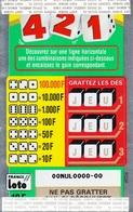 1 TICKET 421 FRANCE LOTO FDJ GRAND SPÉCIMEN NEUF DÉMONSTRATION POUR VITRINE NON GRATTE 19X12,2cm - NOTRE SITE Serbon63 - Lotterielose