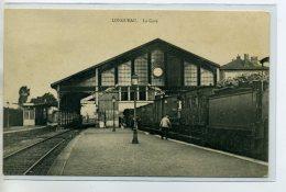 80 LONGUEAU Carte Rare Le TRain En Gare Quai Des Voyageurs 1910     /DS 2014 - Longueau