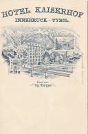Hotel Kaiserhof In INNSBRUCK - Karte Als Rechnung Mit 4er Block Kurtaxe Marken, Einzigartige Seltene Karte - Other