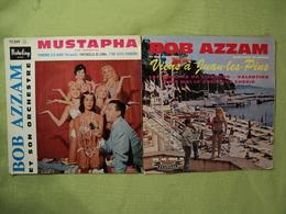 LOT DE DEUX 45 TOURS 4 TITRES BOB AZZAM. 1960. BARCLAY 72 359 M / FESTIVAL FX 45 1234 M MUSTAPHA / PADRONE D O MARE / - Vinyl Records